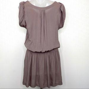 Anthropologie Dresses - ANTHROPOLOGIE Mine Taupe Drop Waist Dress Sz Med